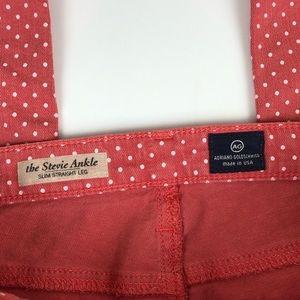 Ag Adriano Goldschmied Jeans - AG Stevie Ankle Slim Straight jeans polka dot 26R